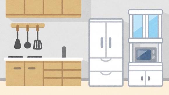 台所の冷蔵庫