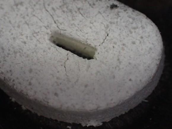 アース渦巻香の燃え尽きた後に残る灰のフリー写真(画像)素材