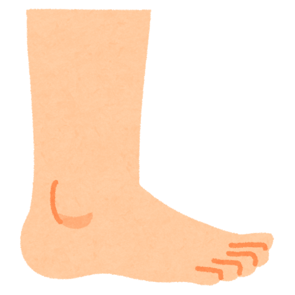素足のイラスト