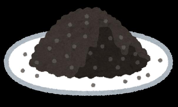 皿に山盛りになった謎の黒い粉
