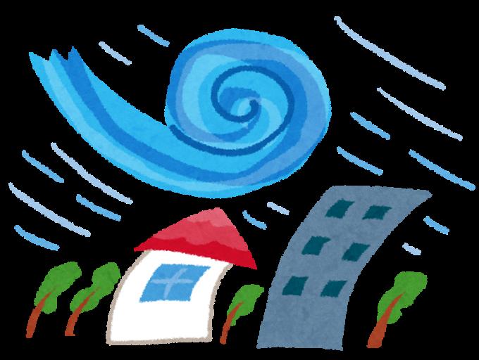 台風のイラスト(かわいいフリー素材集 いらすとや)