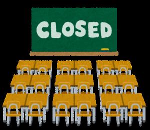 学級閉鎖のイラスト