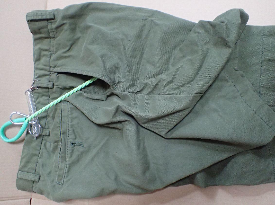 MサイズのショートパンツのポケットならMサイズお魚すくい網は入る